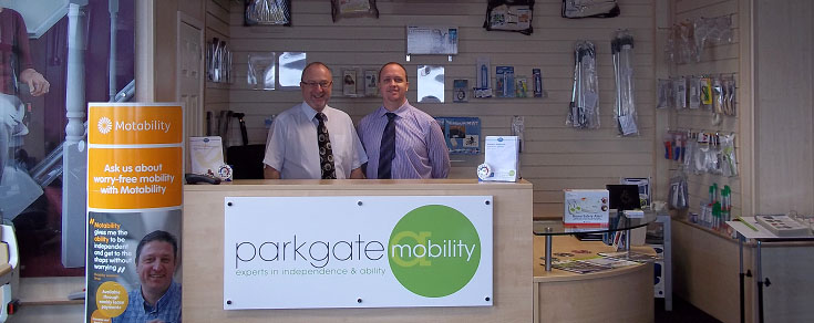 Malcolm and Mark welcome your to our Mobility Shop in Sheffield