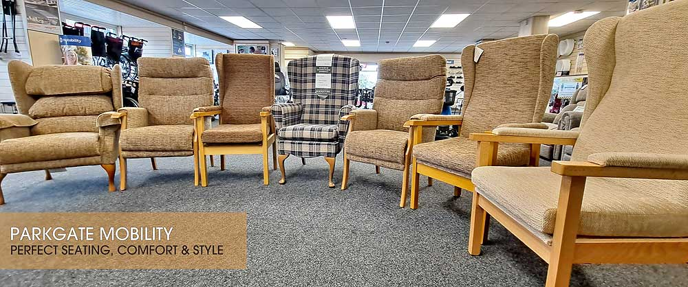 Parkgate Mobility have a wide range of High Back and Rise & recline chairs